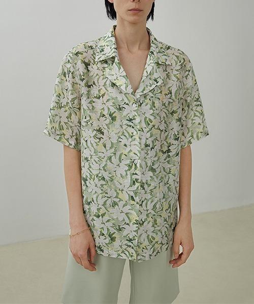 【UNSPOKEN】Flower pattern shirt UX20S655