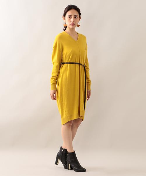 ラムウール ニットドレス