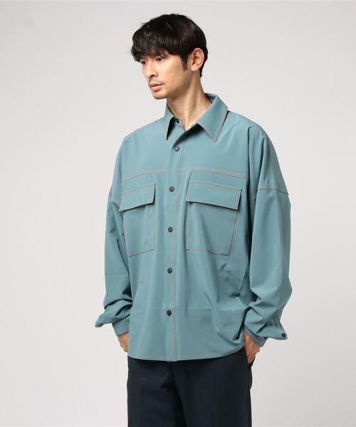 DankeSchon/ダンケシェーン/撥水ストレッチBIGシャツ