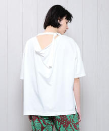 <SAYAKA DAVIS>BACK DRAPE T-SHIRT/Tシャツ