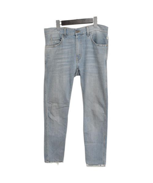 half off fc511 c493e Denim Jeans with D?lav? Effect on the Ankle アンクルブリーチ加工ストレートデニムパンツ 408636  XD398
