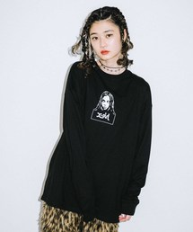X-girl(エックスガール)のFACE L/S TEE(Tシャツ/カットソー)