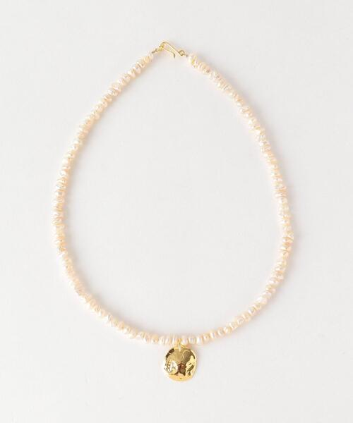 <PREEK>BEADS PEARL COIN NECKLACE/ネックレス