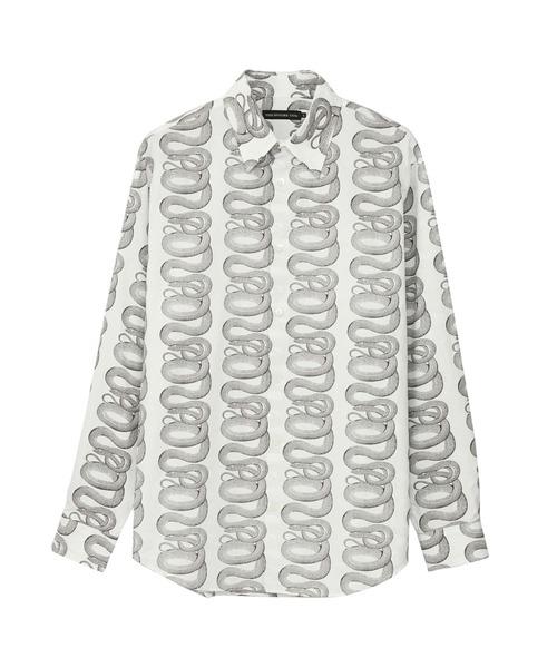SNAKE LOOP柄 レギュラーカラーシャツ