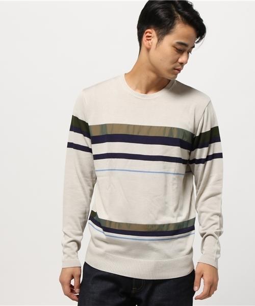 最新情報 【セール】ボーダー布帛コンビニットクルー(Tシャツ/カットソー)|HALB(ハルプ)のファッション通販, CosmeRafio:790e3ab7 --- skoda-tmn.ru