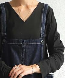 antiqua(アンティカ)のcottonVネックロンT(Tシャツ/カットソー)