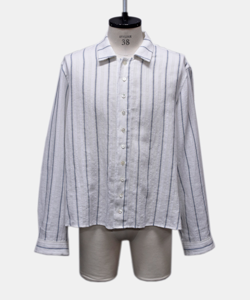 【Edwina Horl】 original dobby stripe shirt / PEACE