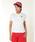 New Balance Golf(ニューバランスゴルフ)の「【new balance golf】シューズモノグラム半袖ポロシャツ (WOMENS METRO)(ポロシャツ)」|ホワイト