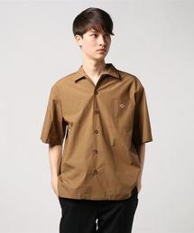 Danton(ダントン)のDANTON (ダントン )COTTON POPLIN S/S SHIRT コットンポプリン半袖シャツ(シャツ/ブラウス)