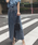 AMERI(アメリ)の「STUDS LINE DENIM SKIRT(スカート)」|ブルー