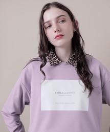 ポンチローマオーバーサイズロゴカットソー(EMMA CLOTHES)パープル