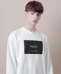 ポンチローマオーバーサイズロゴカットソー(EMMA CLOTHES)オフホワイト