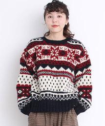 Dot&Stripes CHILD WOMAN(ドットアンドストライプス チャイルドウーマン)のネパール手編み ジャガードプルオーバー(ニット/セーター)