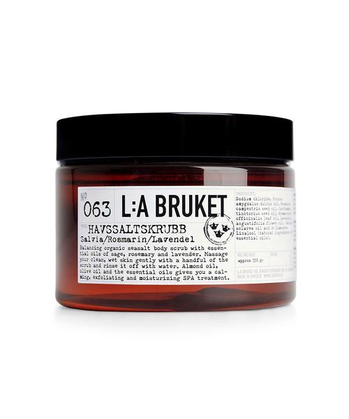 「L:A BRUKET/ラブルケット」 オーガニック ボディスクラブ洗浄料 シーソルトスクラブ 420g