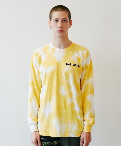 ROTTWEILER(ロットワイラー)の「Dyed LS Tee(Tシャツ/カットソー)」|イエロー