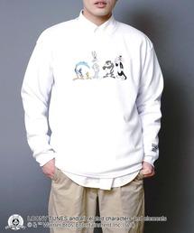 【ルーニー・チューンズ】 キャラクターポンチTトレーナー ロンT ワンポイント刺繍 ユニセックスホワイト