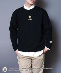 【ルーニー・チューンズ】 キャラクターポンチTトレーナー ロンT ワンポイント刺繍 ユニセックスブラック