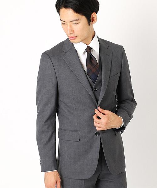 〈セットアップ〉 ウールギャバ テーラード スーツジャケット