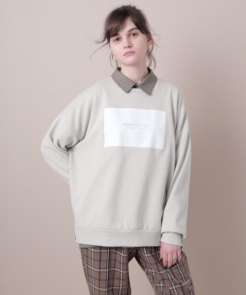 裏毛プルオーバーロゴスウェット(EMMA CLOTHES)