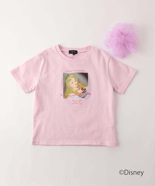 〔別注〕プリントTシャツ シュシュ付き/ ディズニープリンセス
