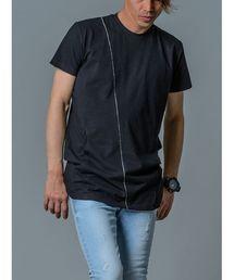 REGIEVO(レジエボ)の【REGIEVO】シンプルな切り替えBIGシルエットTシャツ フロントポケット付き(Tシャツ/カットソー)