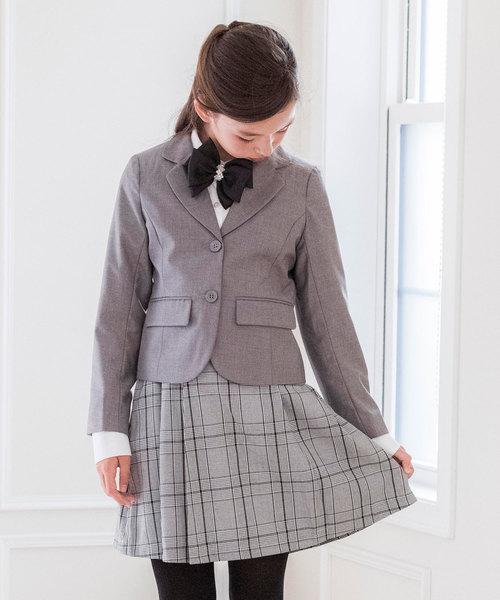 チェック柄プリーツスカートスーツ