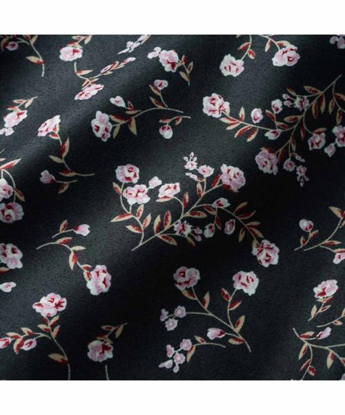 IEDIT ヴィンテージライクな小花柄マキシワンピース