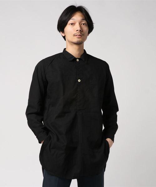 MILITARY(ミリタリー)の「【SWEDISH TYPE】GRANDPA SHIRTS(シャツ/ブラウス)」|ブラック