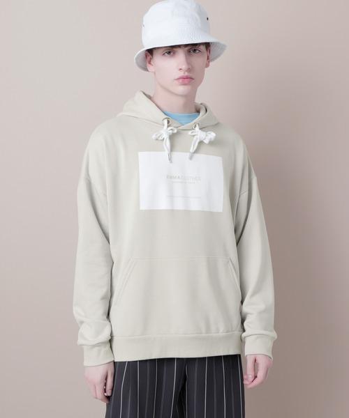 裏毛プルオーバーロゴパーカー(EMMA CLOTHES)