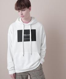 裏毛プルオーバーロゴパーカー(EMMA CLOTHES)オフホワイト