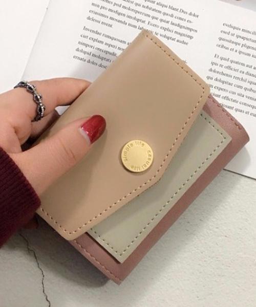 shopnikoniko(ショップニコニコ)の「レター型カラーウォレット(財布)」 ピンク