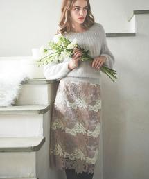 Noela(ノエラ)のWinterカラーレースタイトスカート(スカート)