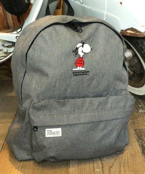 SNOOPY Embroidery Backpack(JOE COOL)/スヌーピー 刺繍 バックパック リュック ジョークール