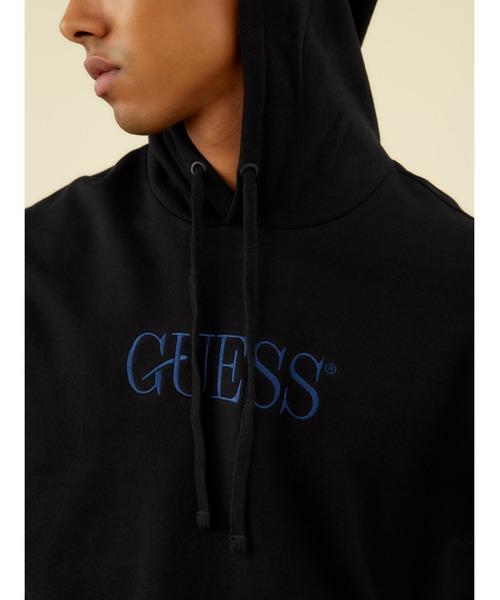 Guess(ゲス)の「GUESS Originals Eco Roy Fleece Logo Hooded Parka(パーカー)」|詳細画像