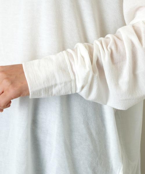 Whim Gazette(ウィムガゼット)の「シアークルーネックロンT(Tシャツ/カットソー)」|詳細画像