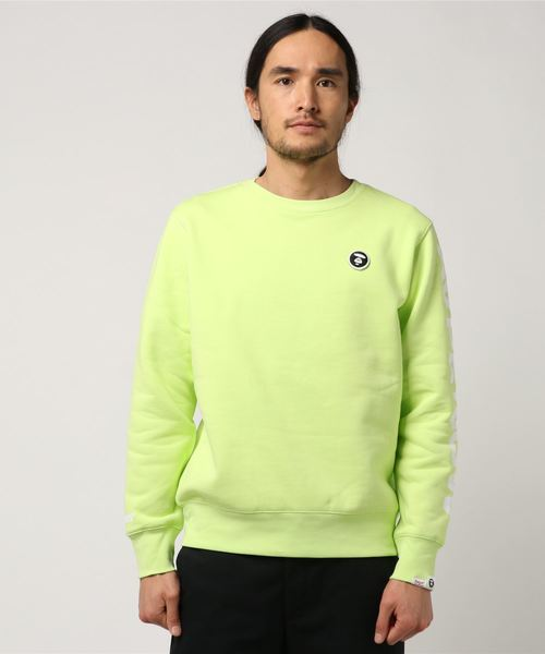 AAPE BY A BATHING APE(エーエイプバイアベイシングエイプ)の「AAPE CREW NECK SWEATER(スウェット)」 ライトイエロー