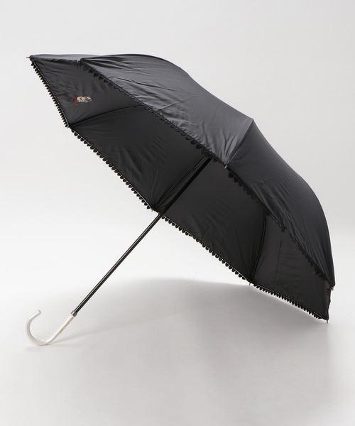 【HELLO KITTY/ハローキティ】 C/Cハートレースショートワイド UV100% 晴雨兼用 折りたたみ傘 86367 SGT