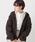 kutir(クティール)の「クラシックチェックシャツ(シャツ/ブラウス)」|ダークブラウン