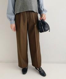 ROPE' mademoiselle(ロペマドモアゼル)のシャンブレークロスセンタープレスパンツ(パンツ)