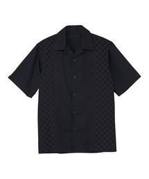 オープンカラーシャツネイビー