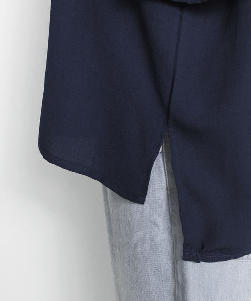 ボタニカル柄刺繍入り半袖トップス