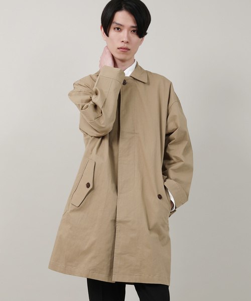 【Revo.】ツイルオーバーサイズステンカラーコート