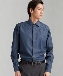 別注 [チット オペラ] ★CIT OPERA デニム フライフロントT Sワイドカラー シャツ