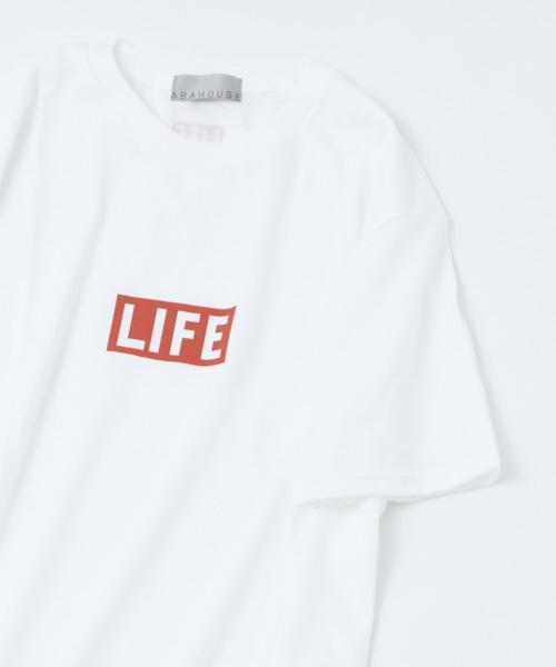 【展開店舗限定】【LIFE】BOXロゴプリントTシャツ