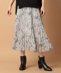 LEPSIM(レプシィム)の★WEB限定アイテム★パイソンガラプリーツスカート 852044(スカート)