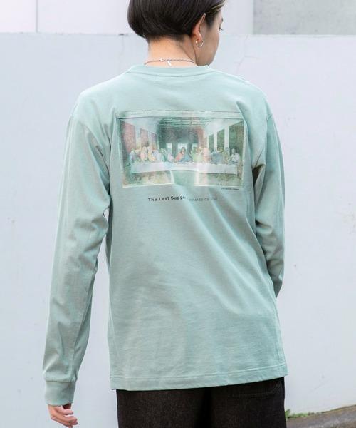 別注プリントART ビッグシルエット アートプリント L/Sカットソー/GIRL WITH A PEARL EARING/VINCENT WILLEM VAN GOGH/THE LAST SUPPER/Pieter Bruegel/Banksy/Recollection in loss/Disagreement dahlia