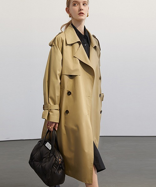 【Fano Studios】【2021SS 先行予約】Oversized double breasted trench coat FC21W020