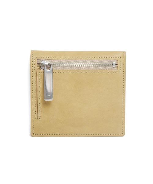 PATRICK STEPHAN(パトリックステファン)の「Leather wallet 'compact' コンパクトウォレット(財布)」|ベージュ