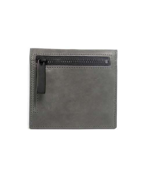 PATRICK STEPHAN(パトリックステファン)の「Leather wallet 'compact' コンパクトウォレット(財布)」|チャコールグレー