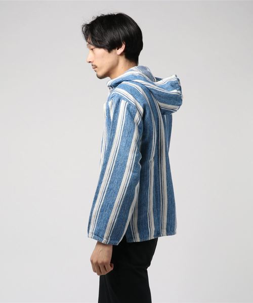 LEVI'S(R) MADE & CRAFTED(R) WOVEN フーディー リネン STRIPE WHITE